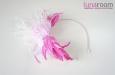 """""""Катрина"""" шляпка, ободок для волос, розовый. Фото 3."""