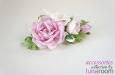 """""""Розы и фрезии"""" украшение для волос, шелк. Фото 2."""
