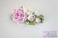 """""""Розы и фрезии"""" украшение для волос, шелк. Фото 3."""