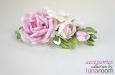 """""""Розы и фрезии"""" украшение для волос, шелк. Фото 4."""