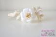 """""""Розы экрю"""" ободок для волос. Фото 2."""
