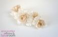 """""""Селена"""" веточка с розами, шелк. Фото 3."""