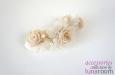 """""""Селена"""" веточка с розами, шелк. Фото 4."""