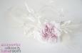 """""""Эллегия"""" шляпка-ободок с розой из шелка и пером павлина. Фото 2."""
