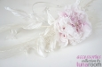 """""""Эллегия"""" шляпка-ободок с розой из шелка и пером павлина. Фото 4."""