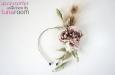 """""""Жози"""" шляпка-ободок с розой из шелка и пером павлина. Фото 1."""