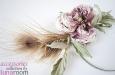 """""""Жози"""" шляпка-ободок с розой из шелка и пером павлина. Фото 3."""