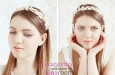"""""""Розовые цветы и перламутр"""" ободок для волос. Фото 1."""