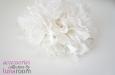"""Rose"" шляпка с цветами из шелка айвори. Фото 3."