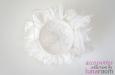 """Rose"" шляпка с цветами из шелка айвори. Фото 2."