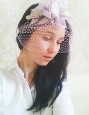 """""""June"""" шляпка вуалетка с ирисом. Фото 4."""