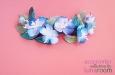 """""""Голубые цветы"""" гребень для волос. Фото 3."""