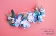 """""""Голубые цветы"""" гребень для волос. Фото 2."""