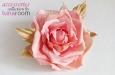 """""""Роза чайная"""" брошь, заколка для волос. Фото 3."""